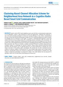 Clustering-Based Channel Allocation Scheme for ...