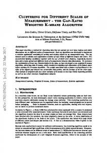 Clustering for Different Scales of Measurement ... - Semantic Scholar