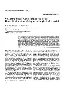 Clustering Monte Carlo simulations of the