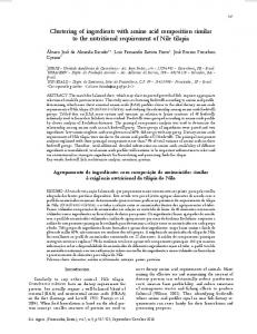 Clustering of ingredients with amino acid composition similar to ... - Core