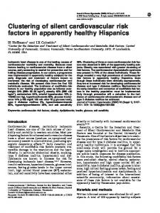 Clustering of silent cardiovascular risk factors in apparently healthy ...