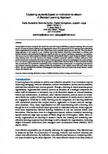 Clustering students based on motivation-to-elearn: A ...