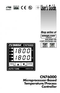 CN76000 Series 1/16 DIN Controller - UCSD Department of Physics