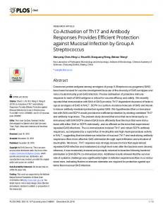 Co-Activation of Th17 and Antibody Responses ... - Semantic Scholar
