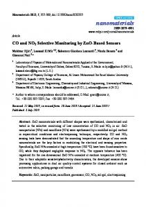 CO and NO2 Selective Monitoring by ZnO-Based Sensors - CiteSeerX