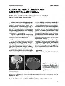 co-existing fibrous dysplasia and meningothelial