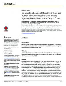Co-Infection Burden of Hepatitis C Virus and ... - Semantic Scholar