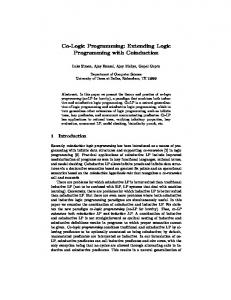 Co-Logic Programming: Extending Logic Programming ... - CiteSeerX