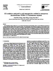 CO oxidation catalyzed by gold nanoparticles confined in mesoporous ...