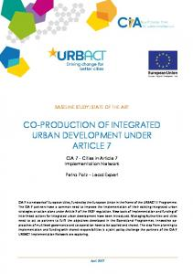 co-production of integrated urban development under article 7 - Urbact