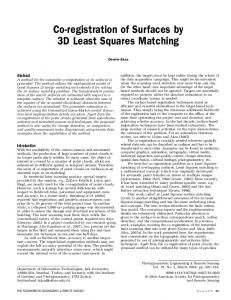 Co-registration of Surfaces by 3D Least Squares ... - Semantic Scholar
