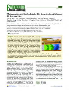 CO2 Accounting and Risk Analysis for CO2 ... - ACS Publications
