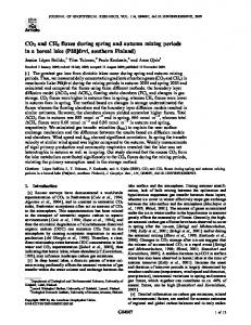 CO2 and CH4 fluxes during spring and autumn mixing periods in a ...