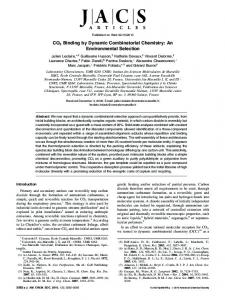 CO2 Binding by Dynamic Combinatorial Chemistry - American
