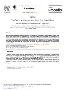 CO2 Capture and Storage from Fossil Fuel Power ... - ScienceDirect.com