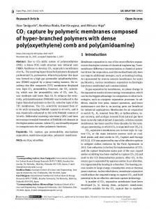 CO2 capture by polymeric membranes composed of