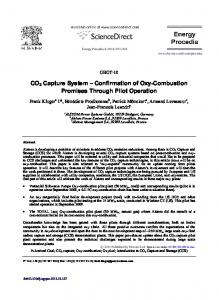 CO2 capture system – Confirmation of oxy-combustion ... - Core