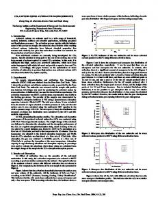 CO2 Capture Using Anthracite Based Sorbents
