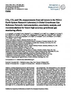 CO2, CO, and CH4 measurements from tall ... - Atmos. Meas. Tech
