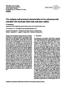 CO2 emission and structural characteristics of two ... - Solid Earth