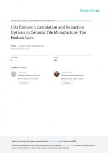 CO2 Emission Calculation and Reduction Options in