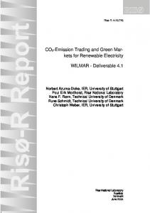 CO2-Emission Trading and Green Markets for Renewable Electricity