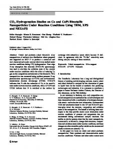 CO2 Hydrogenation Studies on Co and CoPt Bimetallic Nanoparticles