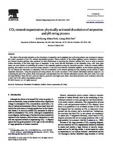 CO2 mineral sequestration: physically activated ... - Semantic Scholar