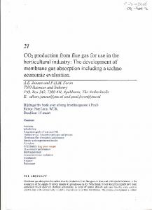 CO2 production from flue gas for use in the
