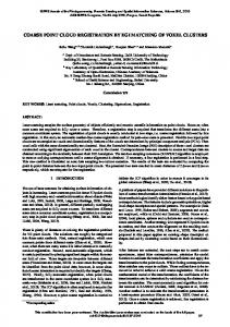 coarse point cloud registration by egi matching of ... - ISPRS Annals
