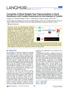 Coassembly of Mixed Weakley-Type ... - ACS Publications