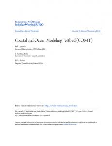 Coastal and Ocean Modeling Testbed (COMT)