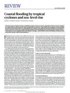 Coastal flooding by tropical cyclones and sea-level rise