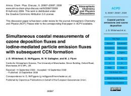 Coastal particle emissions and ozone deposition