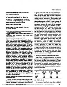 Coastal wetland in South China: Degradation trends