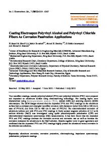 Coating Electrospun Polyvinyl Alcohol and Polyvinyl Chloride Fibers ...