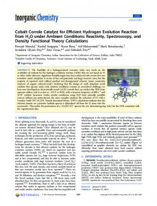 Cobalt Corrole Catalyst for Efficient Hydrogen Evolution Reaction from