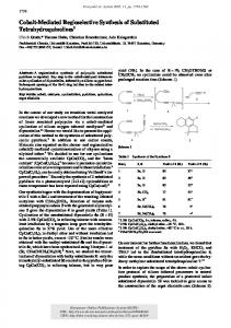 Cobalt-Mediated Regioselective Synthesis of Substituted ... - KOPS