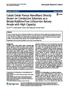 Cobalt Oxide Porous Nanofibers Directly Grown on
