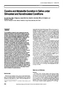 Cocaine and Metabolite Excretion in Saliva under Stimulated and ...