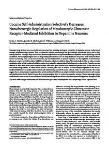 Cocaine Self-Administration Selectively Decreases ... - Semantic Scholar