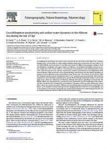 Coccolithophore productivity and surface water