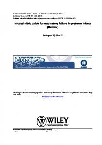 Cochrane review: Inhaled nitric oxide for ... - Wiley Online Library