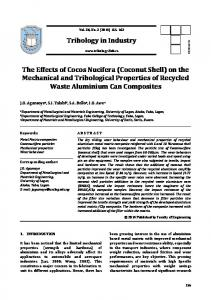 Coconut Shell - Tribology in Industry