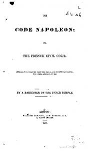 Code Napoleon; or, The French civil code