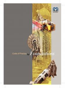 Code of Practice for Foundations