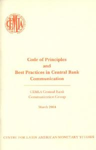 Code of Principles and Best Practices in Central bank Communication