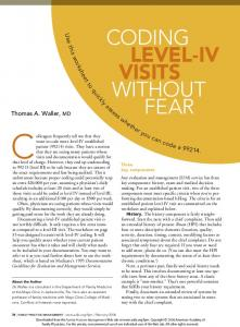 Coding Level-IV Visits Without Fear -- Family ... - Japa Billing Services