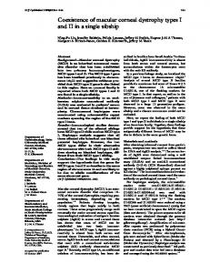 Coexistence of macular corneal dystrophy types I and II in a ... - NCBI