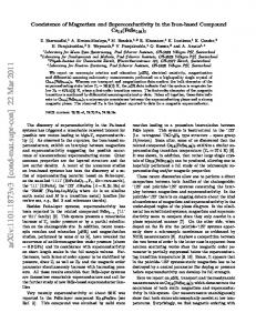 Coexistence of Magnetism and Superconductivity in the Iron-based ...